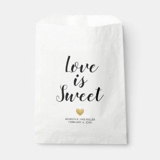 Sachets En Papier L'amour est sac moderne doux de faveur de coeur