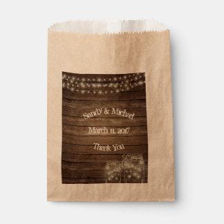 Sachets En Papier Le bois de pays allume le sac de faveur de pot de