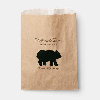 Sachets En Papier Le cadeau rustique d'ours met en sac Papier