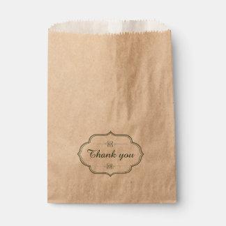 Sachets En Papier L'étiquette vintage avec la calligraphie vous
