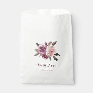 Sachets En Papier Mariage de automne floral d'aquarelle rustique
