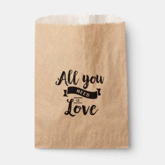 Sachets En Papier Mariage rustique de noir d'amour, douche nuptiale,