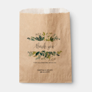 Sachets En Papier Merci de feuillage de Papier d'emballage