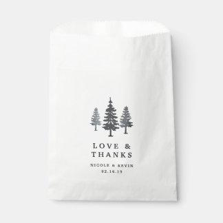 Sachets En Papier Merci de mariage de forêt d'hiver