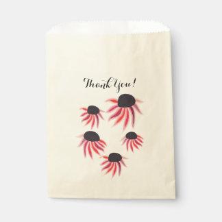 Sachets En Papier Merci floral rustique d'art populaire de guirlande