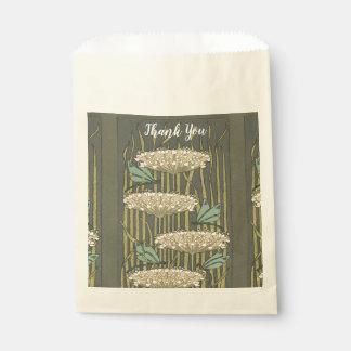 Sachets En Papier Merci rustique d'art déco de Lilypad
