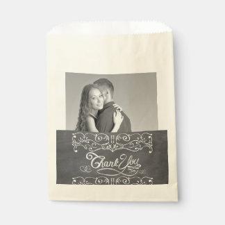Sachets En Papier Merci vintage d'art populaire de tableau rustique