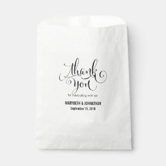 Sachets En Papier Moderne nous Script le sac de faveur de mariage