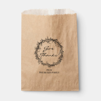 Sachets En Papier Papier d'emballage rustique donnent le sac de
