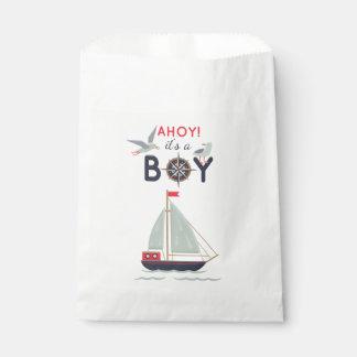 Sachets En Papier Partie de douche nautique de bébé de bateaux de