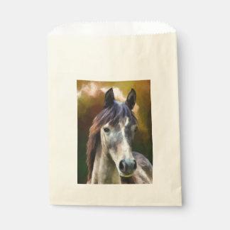 Sachets En Papier Peinture de portrait de cheval de Digitals