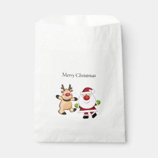 Sachets En Papier Père Noël et renne