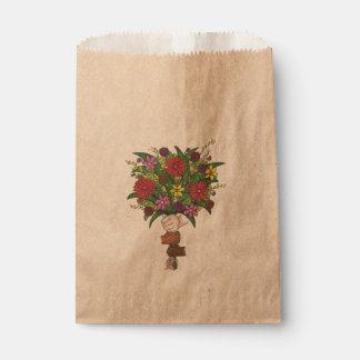 Sachets En Papier Petites fleurs du jour de mère de professeur de
