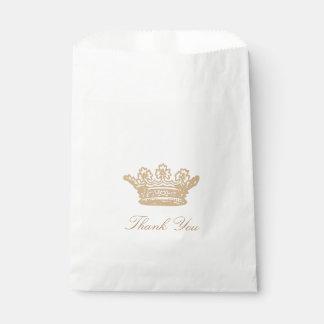 Sachets En Papier Princesse Crown Favor Bags