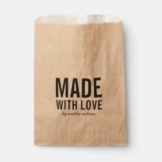 Sachets En Papier Rustique élégant audacieux fait avec amour