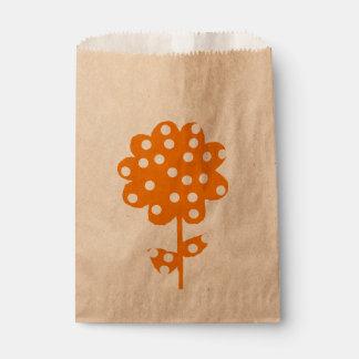 Sachets En Papier Rustique floral orange