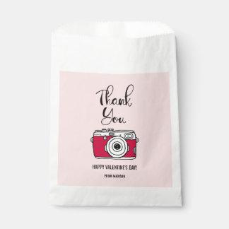 Sachets En Papier Sac de faveur de Valentine d'appareil-photo de