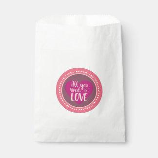 Sachets En Papier Sac vintage de faveur de Valentines de style