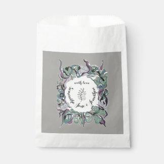 Sachets En Papier Suite florale de mariage de forêt de hasard