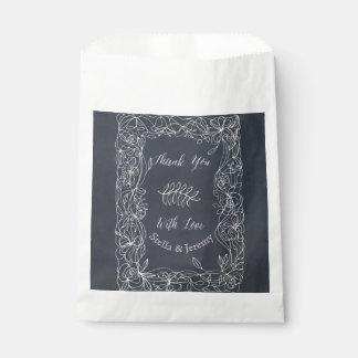 Sachets En Papier Suite florale sensible de mariage de tableau