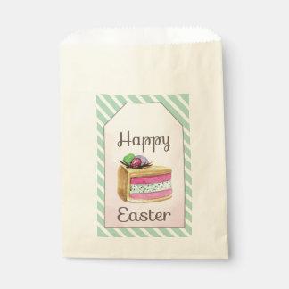 Sachets En Papier Tranche heureuse vintage de gâteau de Pâques