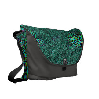 Sacoche Art turquoise de fractale de style de Steampunk de