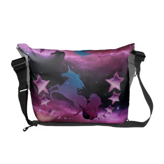 Sacoche Licorne avec des étoiles