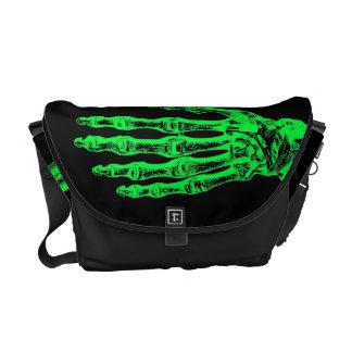 Sacoche Mains vertes au néon de zombi