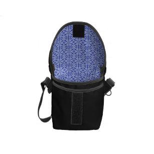 Sacoche Motif de fractale de bleu royal