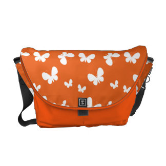 Sacoche Motif de papillon orange mignon