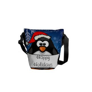 Sacoche Pingouin de Noël