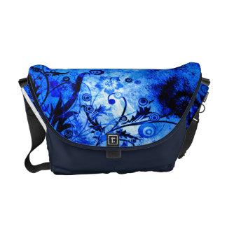 Sacoche Remous floraux bleus