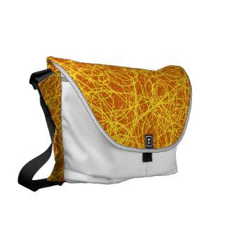 Sacoche Réseau d'orange de sac messenger