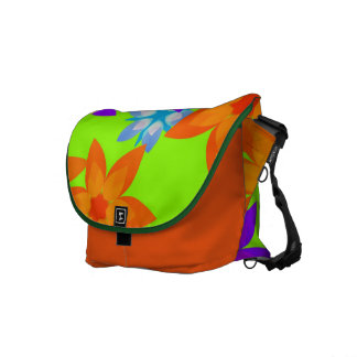 Sacoche Rétro sac messenger à art de hippie de flower