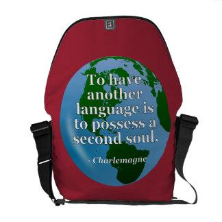 Sacoche Une autre citation d'âme de langue. Globe