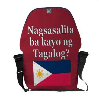 Sacoches Parlez-vous Tagalog ? dans le Tagalog. Drapeau
