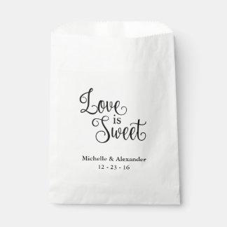 Sacs de faveur de mariage - l'amour est doux