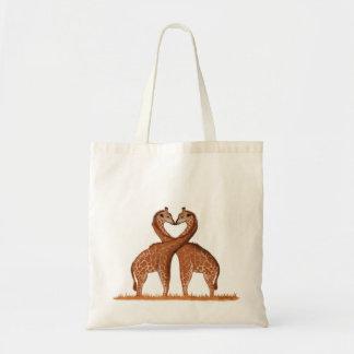 Sacs fourre-tout à amour de girafes
