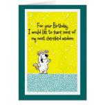 Sagesse d'anniversaire cartes de vœux