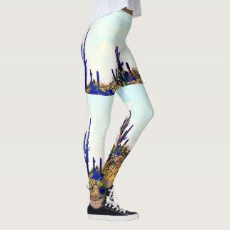Saguaro sur les guêtres des femmes de colline leggings
