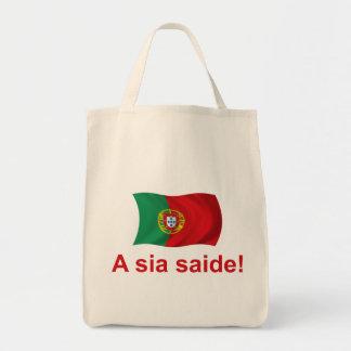 Saide de sia du Portugal A ! Sac En Toile Épicerie