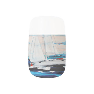 """Sailboat 3"" Stickers Pour Ongles"