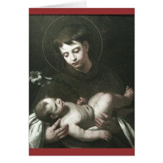 Saint Anthony de Padoue tenant le bébé Jésus Carte
