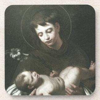 Saint Anthony de Padoue tenant le bébé Jésus Dessous-de-verre