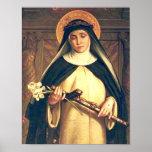 Saint Catherine d'affiche de Sienne