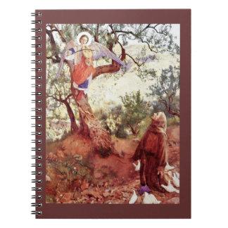 Saint Francis avec l'ange Carnet