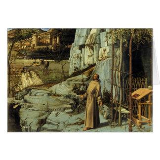 Saint Francis dans le désert par Giovanni Bellini Carte
