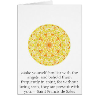 Saint Francis de Sales QUOTE au sujet des anges Carte