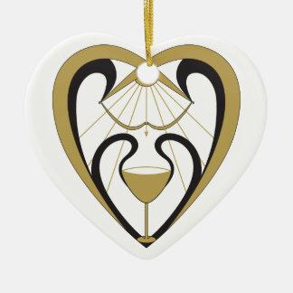 Saint Graal Ornement Cœur En Céramique