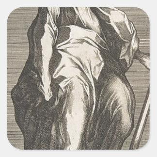 Saint Judas (ou saint Matthias) Sticker Carré